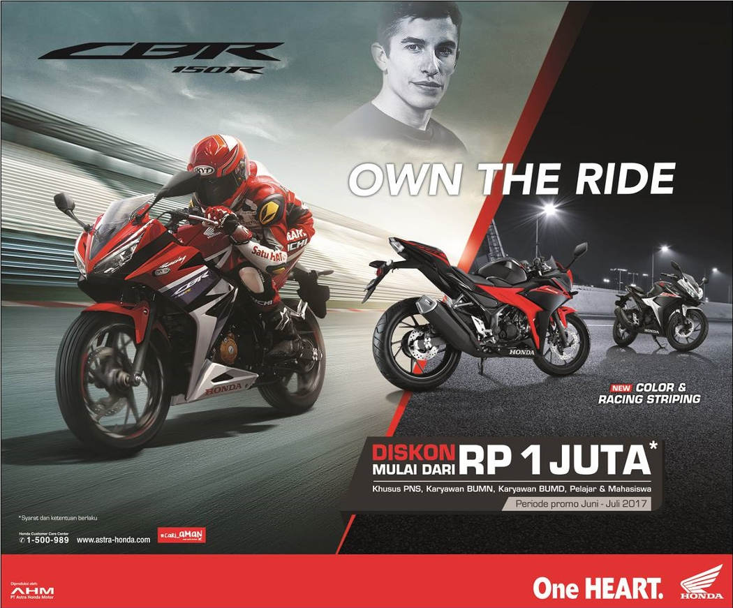 Program Diskon Honda CBR150R
